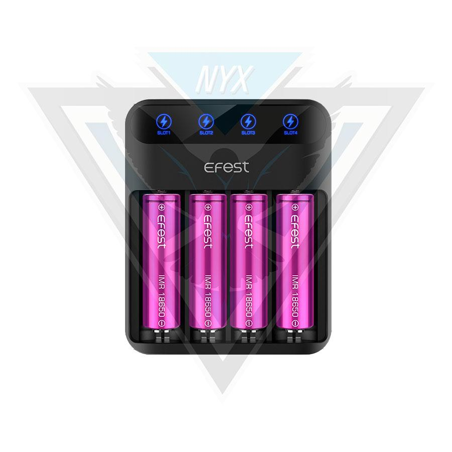 Efest LUSH Q4 Intelligent LED Charger - NYX ECIGS