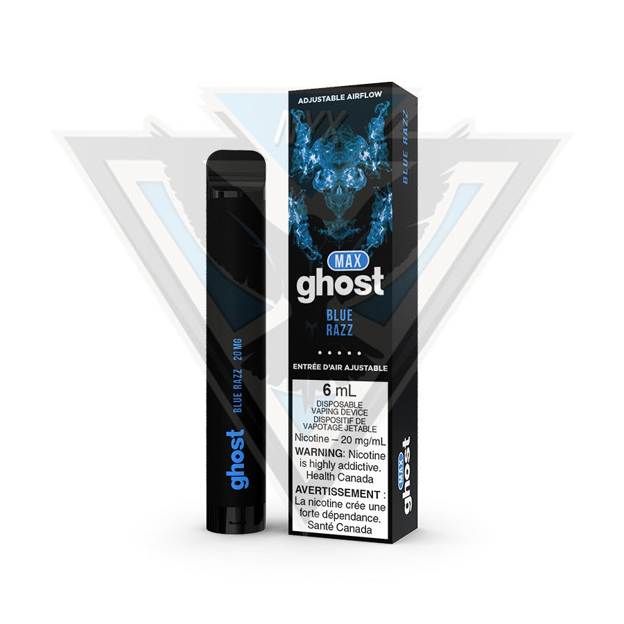 GHOST MAX DISPOSABLE POD DEVICE - BLUE RAZZ - NYX ECIGS