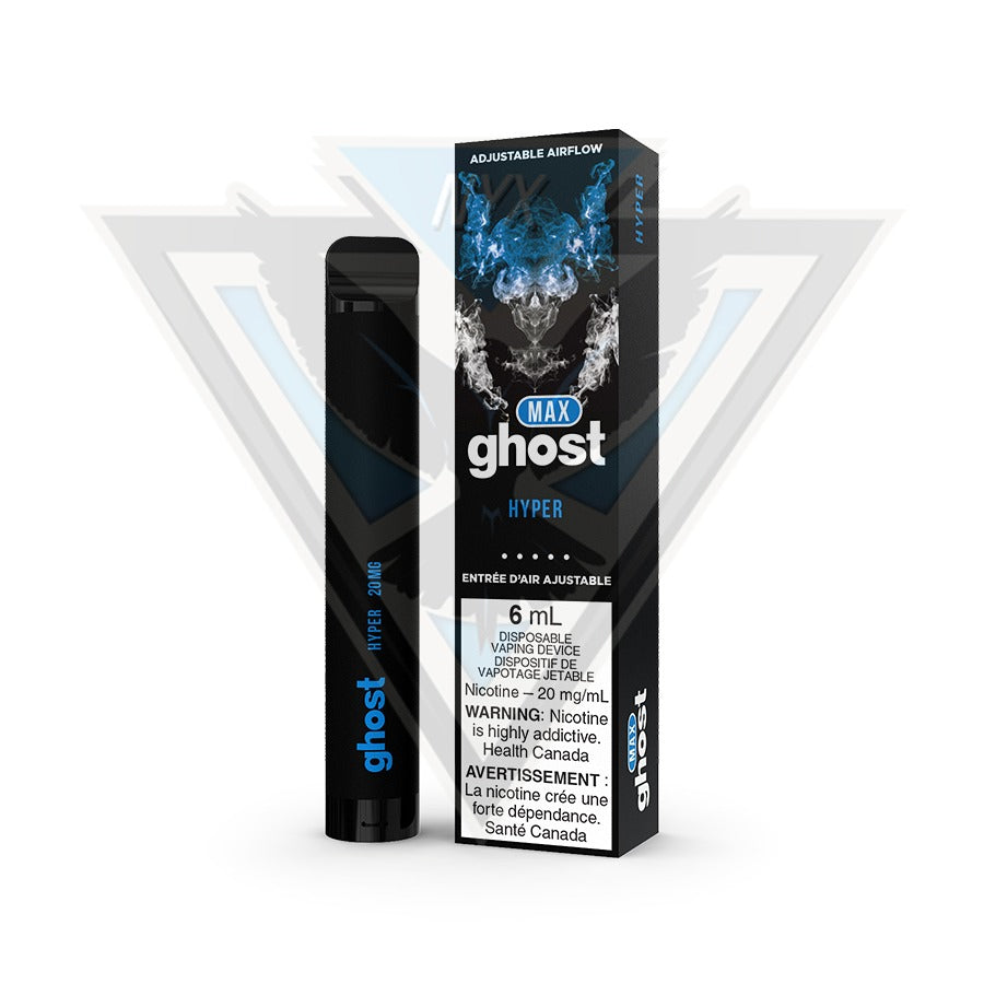 GHOST MAX DISPOSABLE POD DEVICE - HYPER - NYX ECIGS