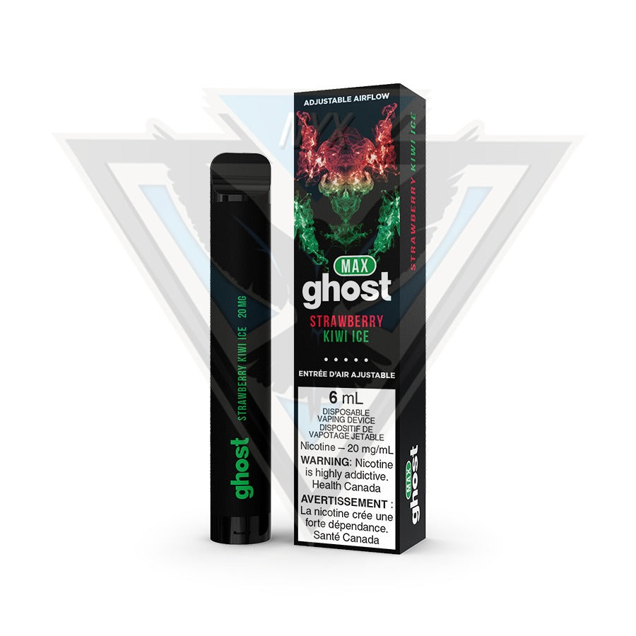 GHOST MAX DISPOSABLE POD DEVICE - STRAWBERRY KIWI ICE - NYX ECIGS