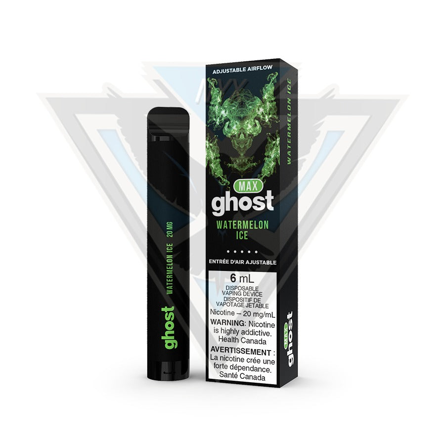 GHOST MAX DISPOSABLE POD DEVICE - WATERMELON ICE - NYX ECIGS