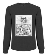 "Alice in Wonderland ""Cheshire Cat"" Illustration - Men's Jumper - White Chapter"