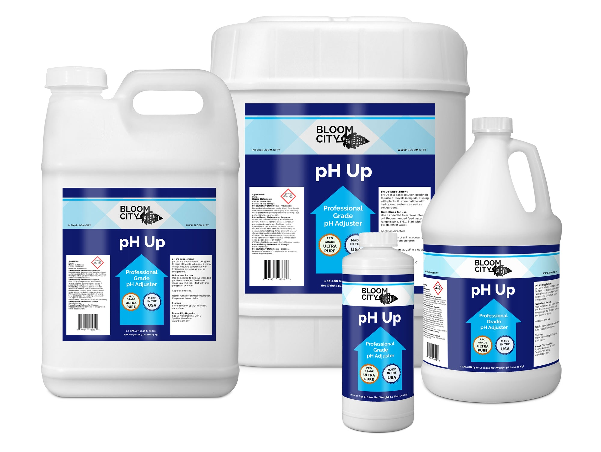 Professional Grade pH Up Growing Supplement