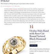 Giving to COVID-19 Relief Dana Bronfman Oculus Halo Band Featured in Town and Country Magazine