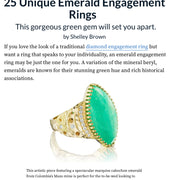 Dana Bronfman Emerald Engagement Ring Featured on theknot.com