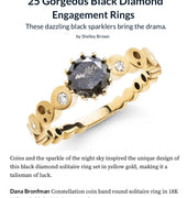 Dana Bronfman Black Diamond Engagement Ring Featured on theknot.com
