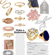 Dana Bronfman Sculpted Constellation Band featured in Serendipity October 2020 magazine