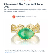 Dana Bronfman Emerald Crown Ring Featured on theknot.com