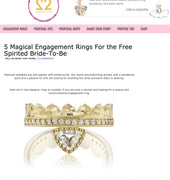 Dana Bronfman Agra Crown Ring Featured on yourengagement101.com