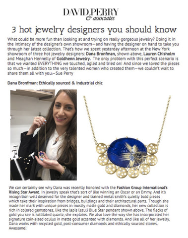 Blue Star Necklace featured on David Perry & Assoc.