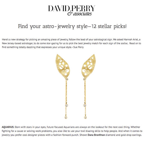 Climbing Persistence Earrings with Pendulum Earring Extenders featured on David Perry & Assoc.
