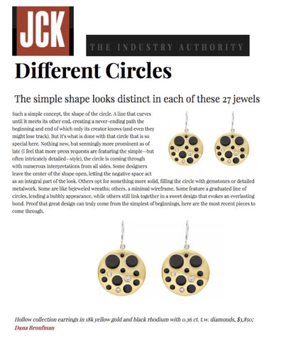 Diamond Hollow Coin Earrings featured on JCK Online