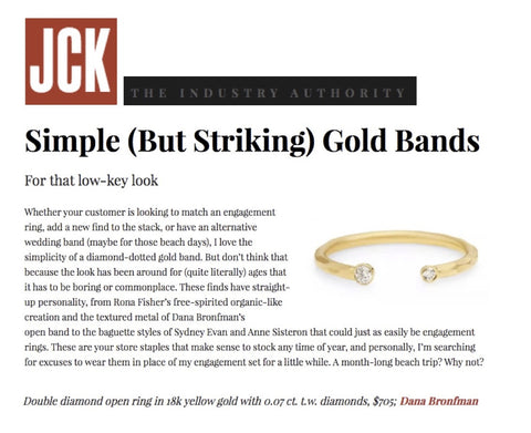 Double Diamond Open Ring featured on JCK Online