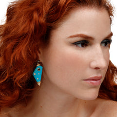 Mismatched Galaxy Turquoise Earrings