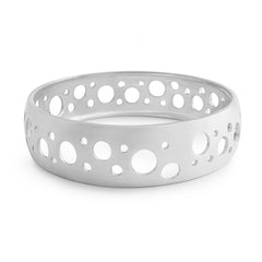 Silver Concave Cutout Bangle