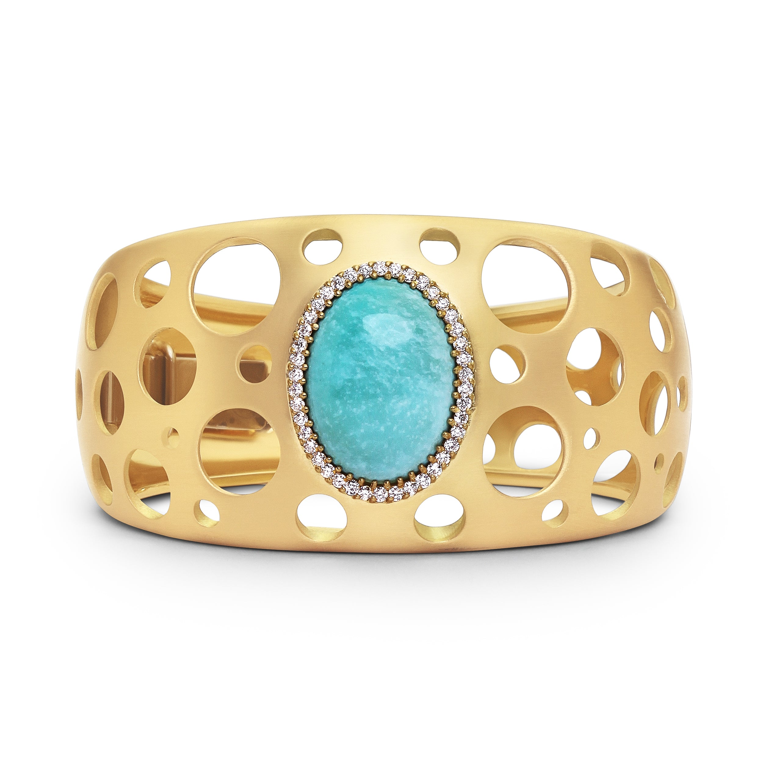 Turquoise Click Hinged Cuff