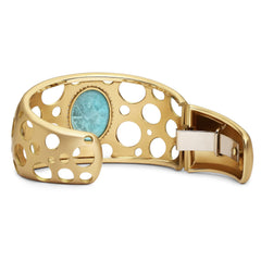 Sleeping Beauty Turquoise Click Hinged Cuff