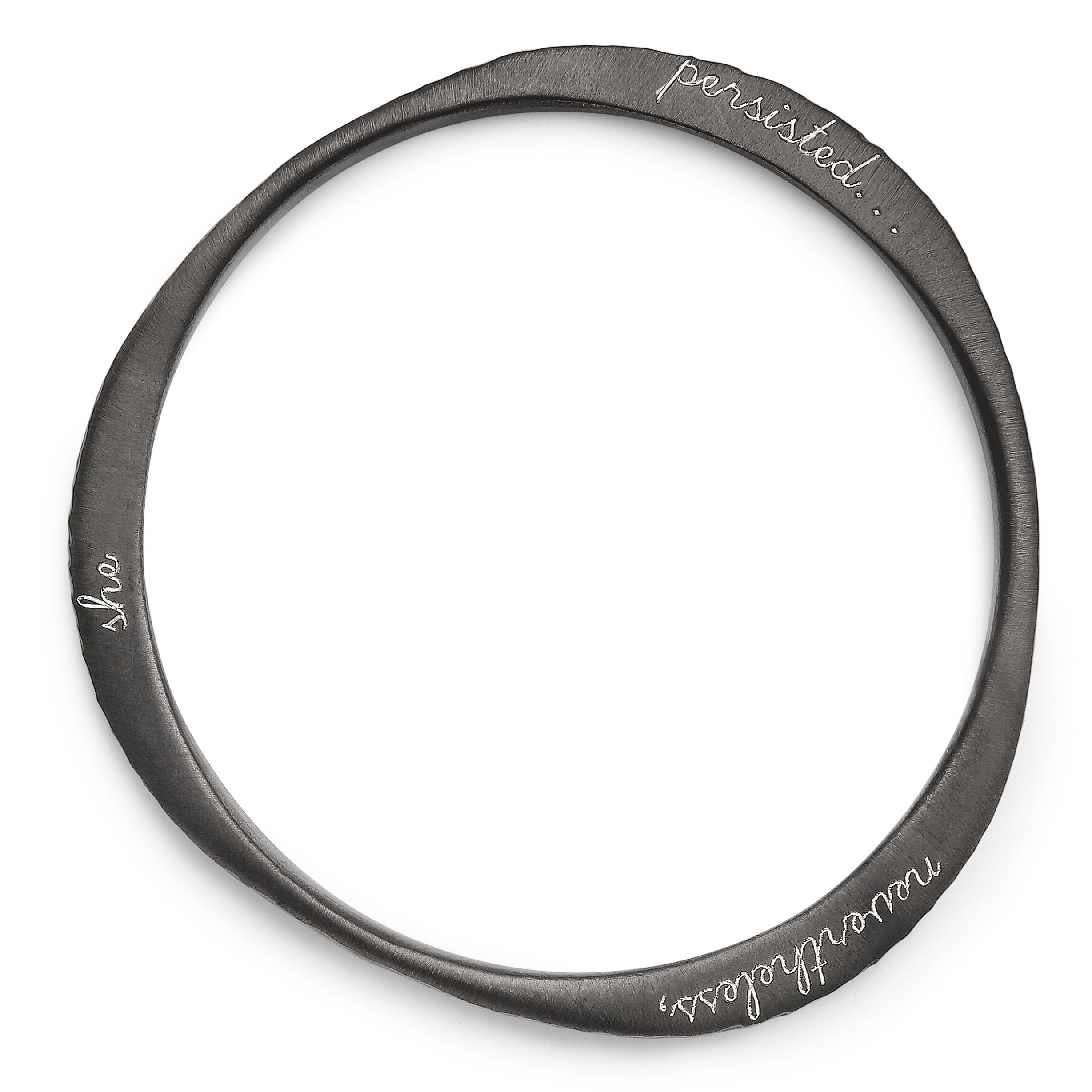 Dark Night Engraved Tri Bangle