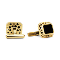 Oculus Emerald-Shape Onyx Cuff Links