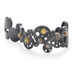 Constellation Bubble Hinged Click Cuff