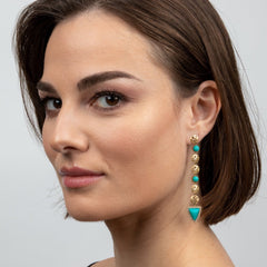 Coin & Chrysocolla Earrings