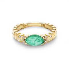Dana Bronfman x Muzo Emeralds East-West Marquise Agra Ring