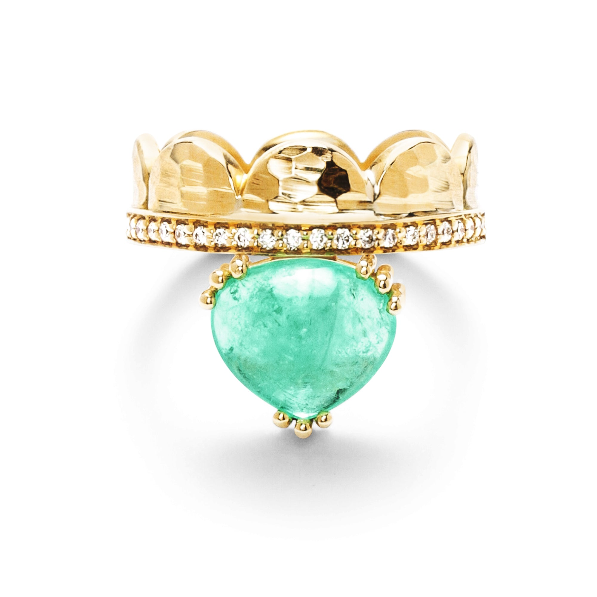 Dana Bronfman x Muzo Emeralds Half Moon Crown Ring