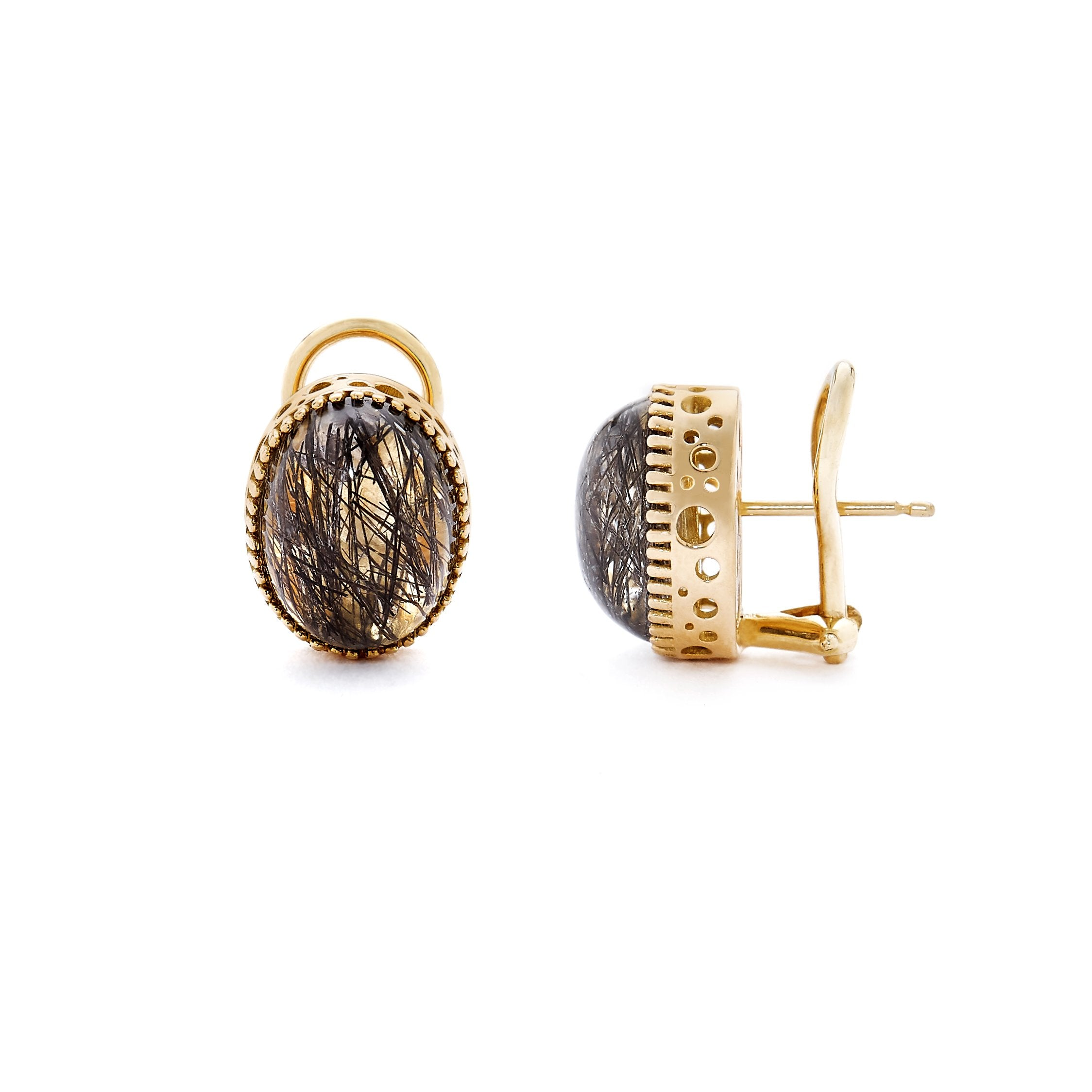 Gold Shines Through Omega Studs