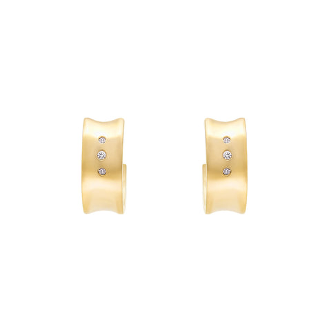 Convex Hoop Earrings