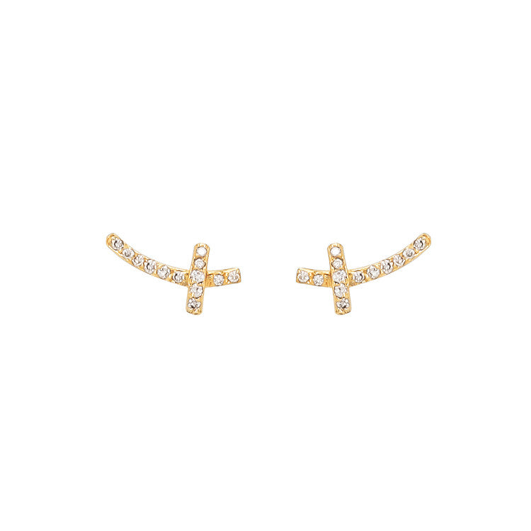 Diamond Branch Stud Earrings