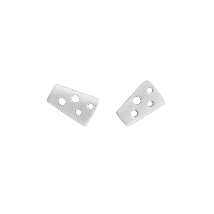 Silver Tiny Helena Stud Earrings