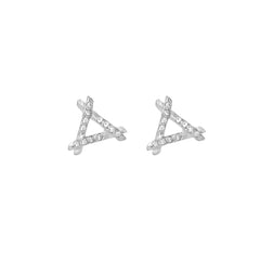 Diamond Trina Stud Earrings
