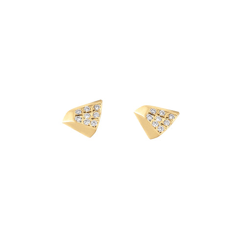 Diamond Triangle Studs