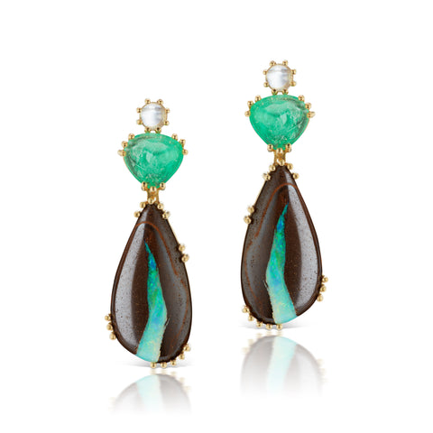 Dana Bronfman x Muzo Emeralds Cactus Moon Rising Earrings