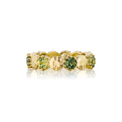 Greens & Gold Eternity Band