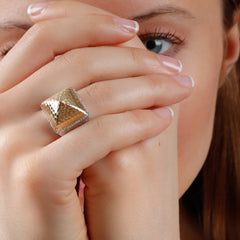 Oversized Pyramid Ring