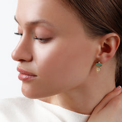Dana Bronfman x Muzo Emeralds Marquise Agra Button Earrings