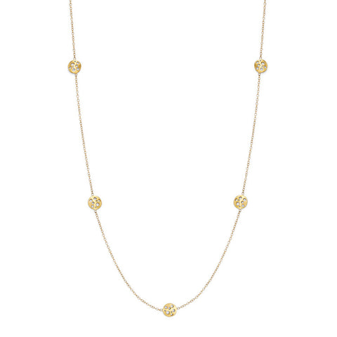 Golden Coin Station Necklace