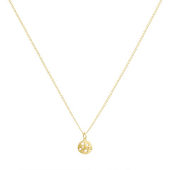 Gold Tiny Coin Pendant