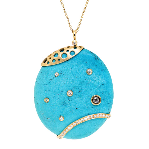 Hats Off to the King Turquoise Pendant