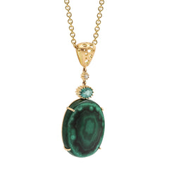 Malachite & Emerald Moving Drop Pendant