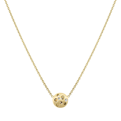 Diamond Tiny Coin Pendant