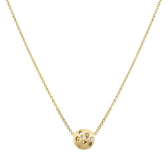 Diamond Tiny Coin Necklace