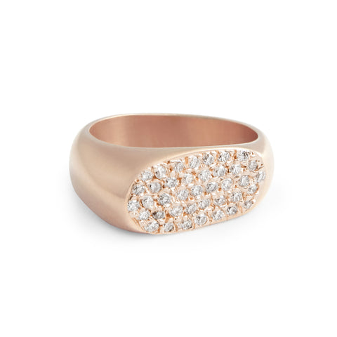 Diamond Pavé Lipstick Ring