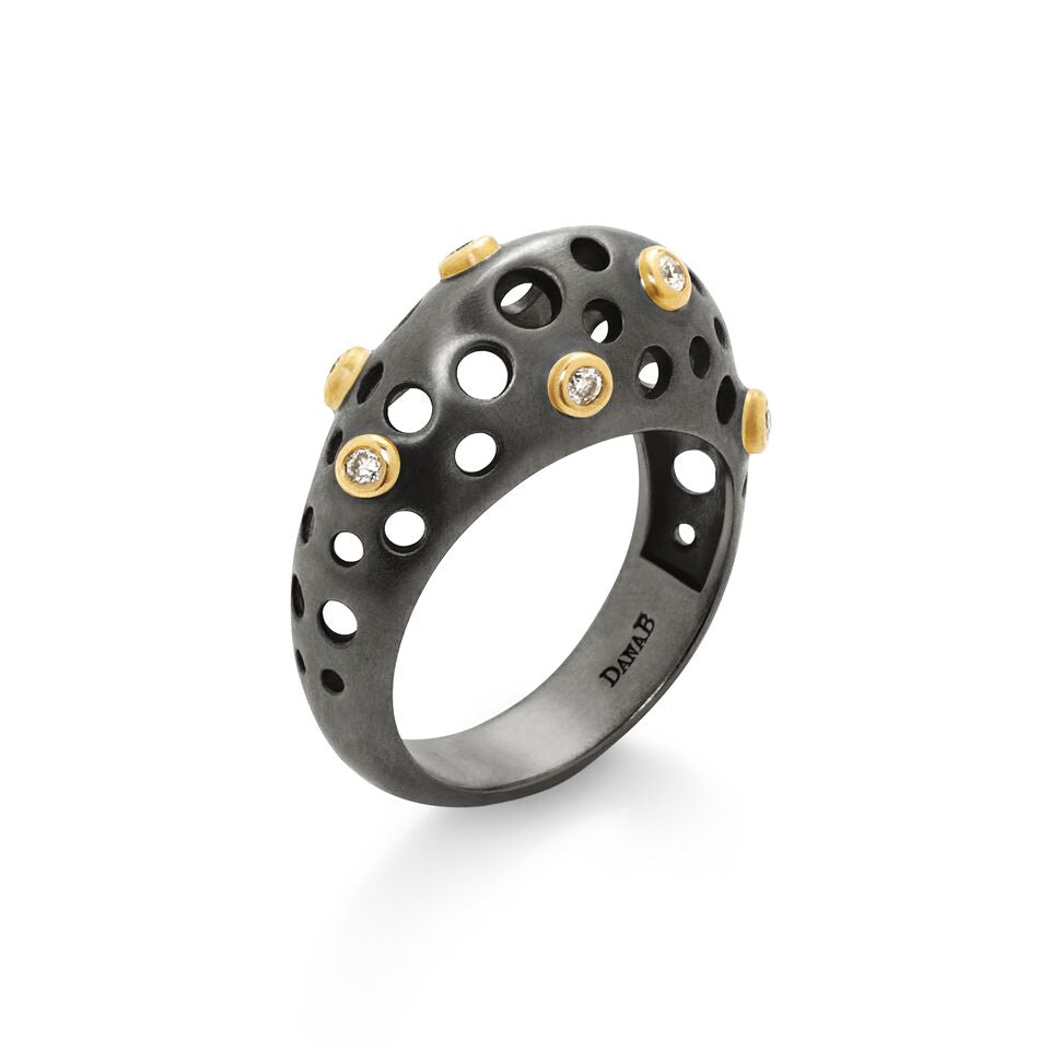 3D Oculus Lace Space Ring