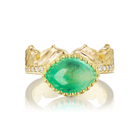 Dana Bronfman X Muzo Emeralds East-West Marquise Agra Crown Ring