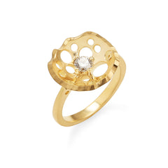 Still Lily Solitaire Ring