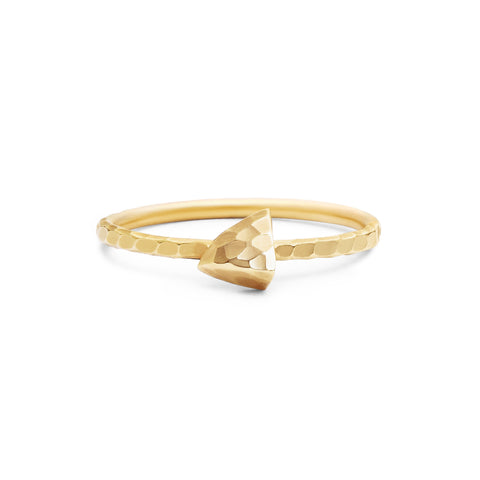 Gold Tiny Triangle Ring