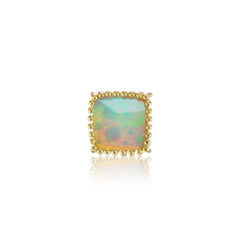 Single Square Desert Sunset Opal Stud