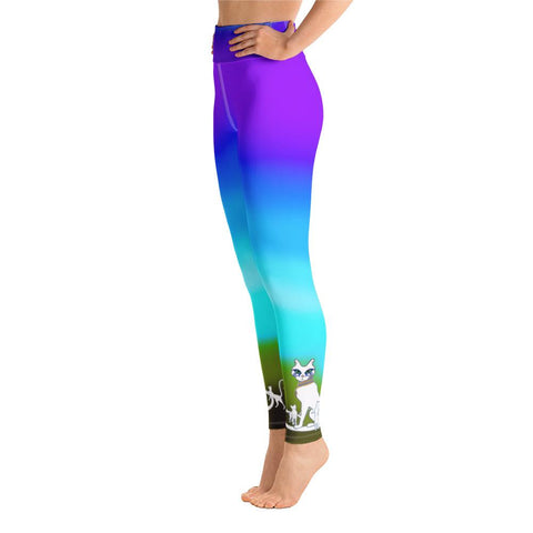 Neferset Leggings in Blue Horizon